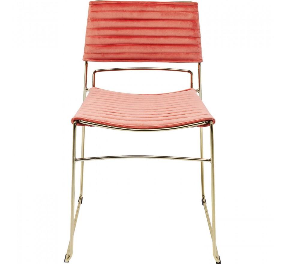 Chaise Hugo rose et dorée Kare Design