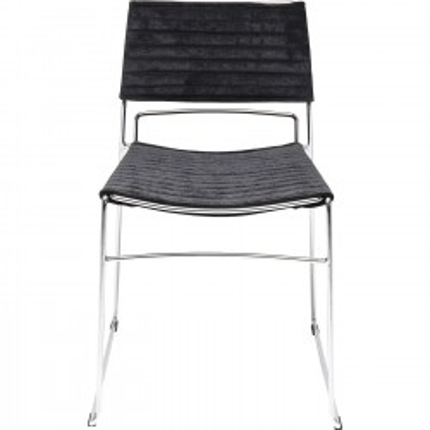 Chaise Hugo noire et chromée Kare Design