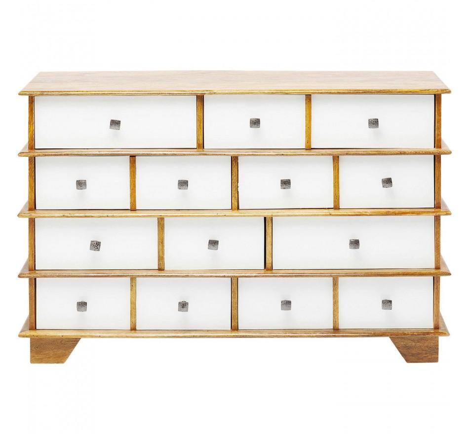 Commode Fuji blanche 8 tiroirs Kare Design