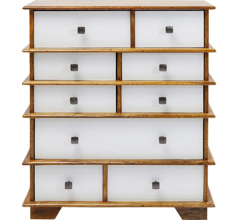 Commode Fuji blanche 9 tiroirs Kare Design