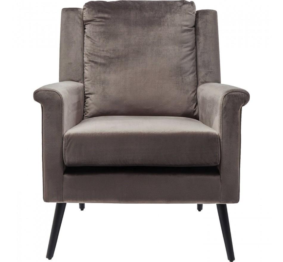 Fauteuil San Remo velours gris Kare Design