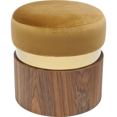 Tabouret Lilly moutarde 39cm Kare Design