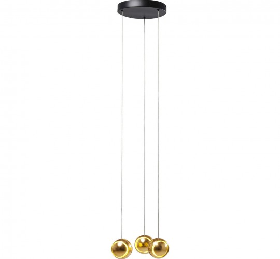 Suspension Spool Spiral dorée LED Kare Design