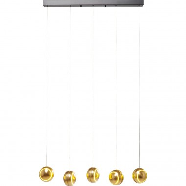 Suspension Spool Cinq dorée LED Kare Design