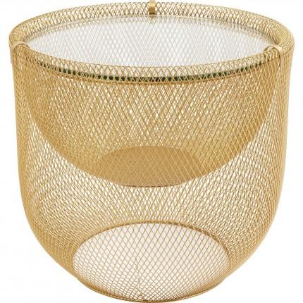 Table basse Grid dorée 50cm Kare Design
