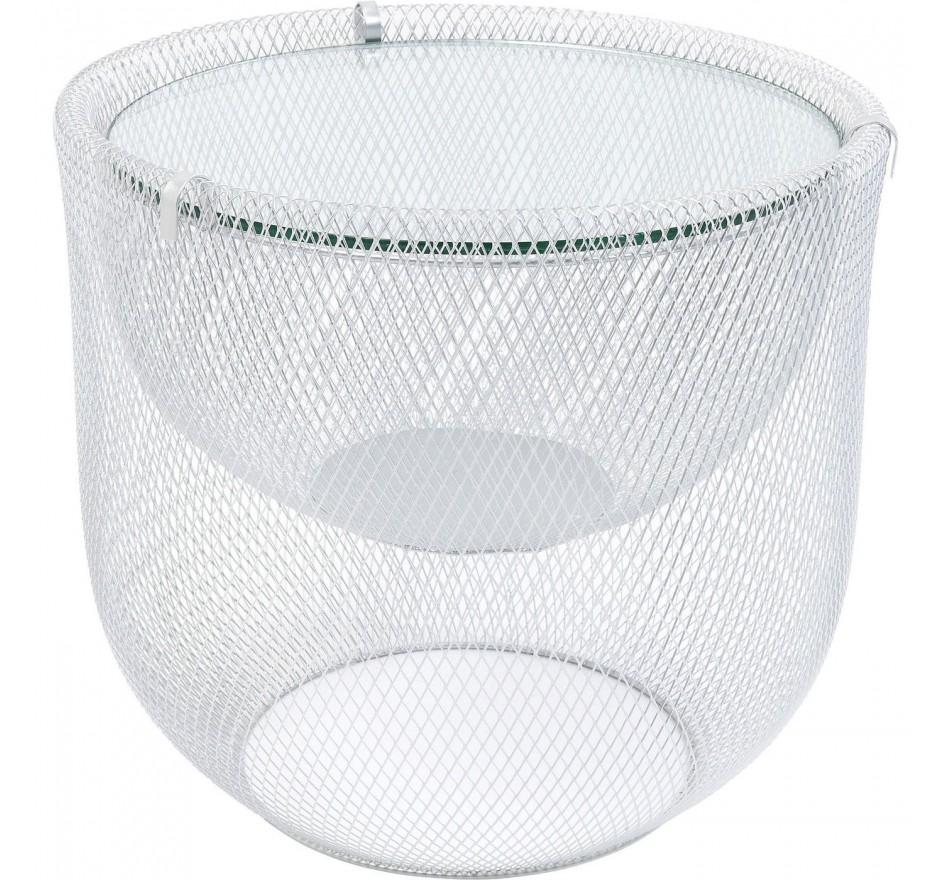 Table basse Grid argentée 50cm Kare Design