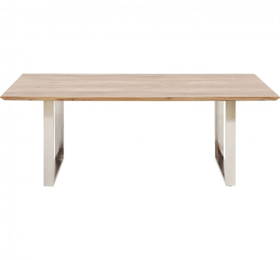Table Symphony acacia chrome 160x80cm Kare Design