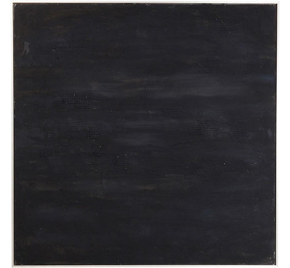 Peinture à l'huile Abstract Deep noire 155x155cm Kare Design