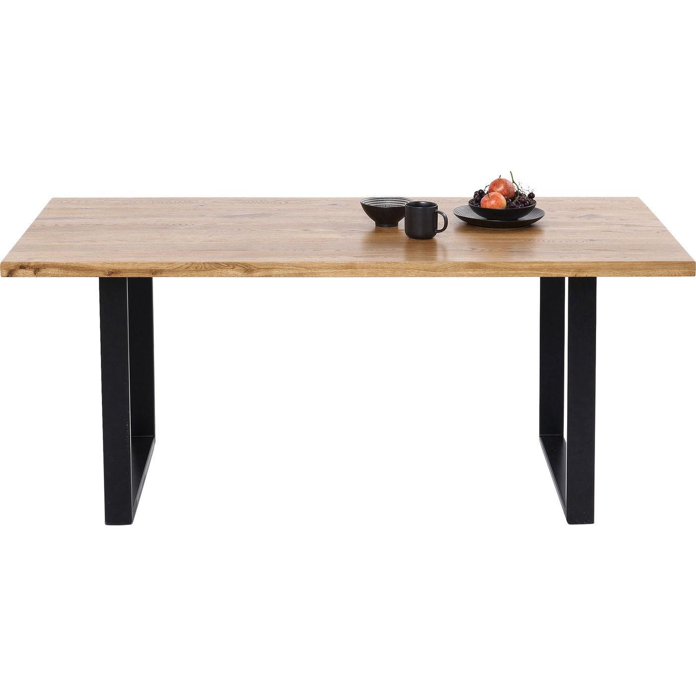 Table Jackie chêne noire 200x100cm Kare Design