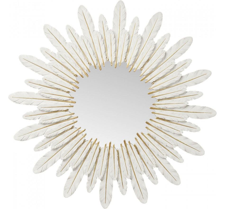 Miroir plumes blanches Kare Design