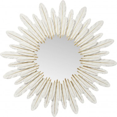 Miroir plumes blanches Kare Design