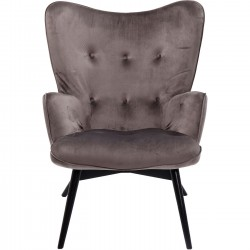 Fauteuil Vicky velours gris Kare Design