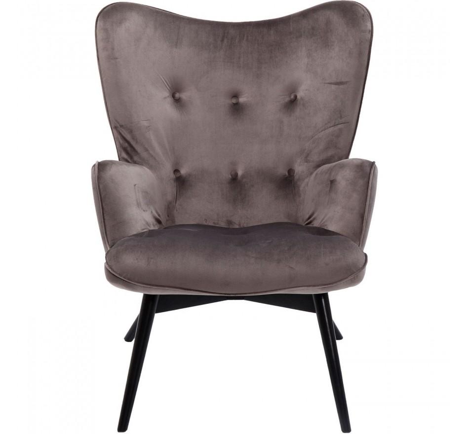 Fauteuil Vicky Velvet gris Kare Design