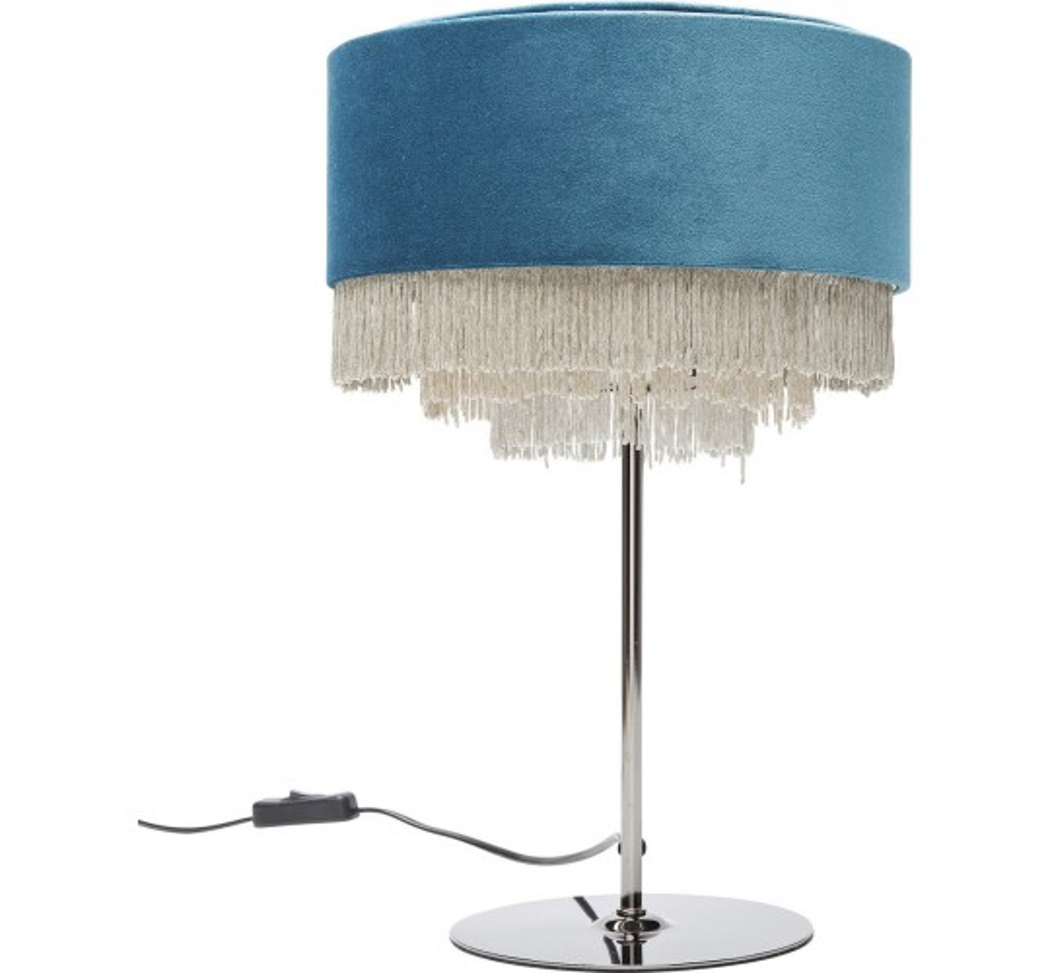 De Lampe Bleu Kare Pétrole Table Tassel Design 76Yfbgy