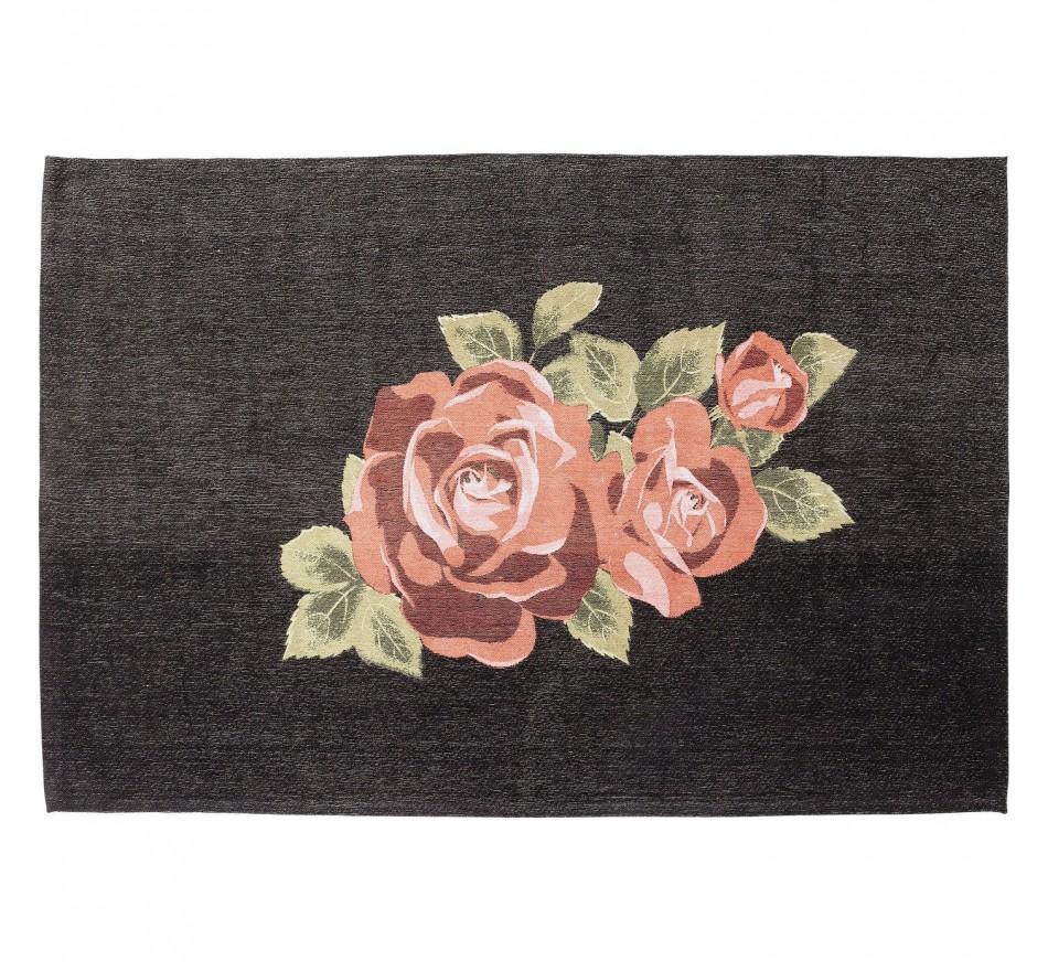 Tapis Roses noir 240x170cm Kare Design