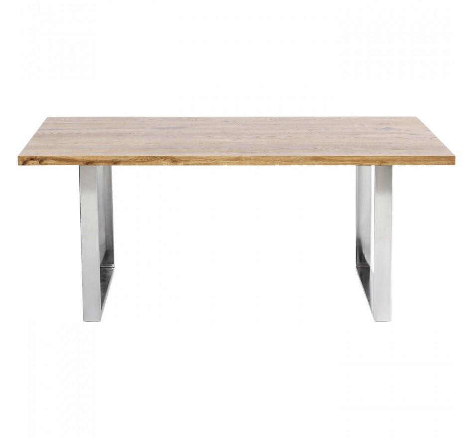 Table Jackie chêne chrome 200x100cm Kare Design
