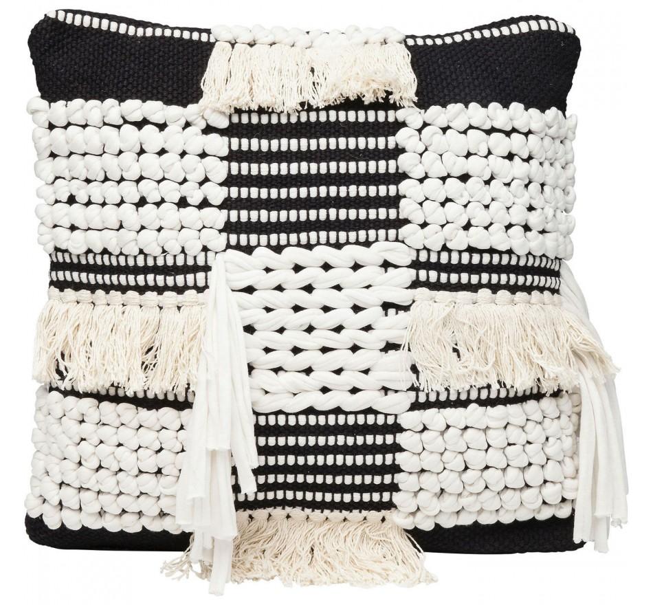coussin ethnique noir et blanc husky kare design. Black Bedroom Furniture Sets. Home Design Ideas