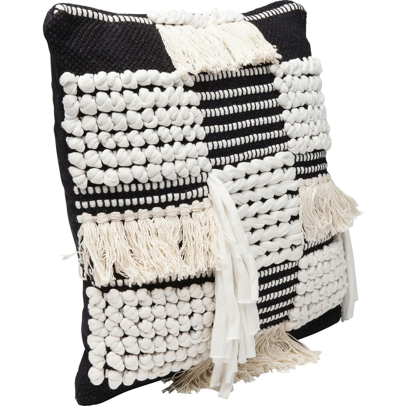 Coussin Husky noir et blanc 45x45cm Kare Design