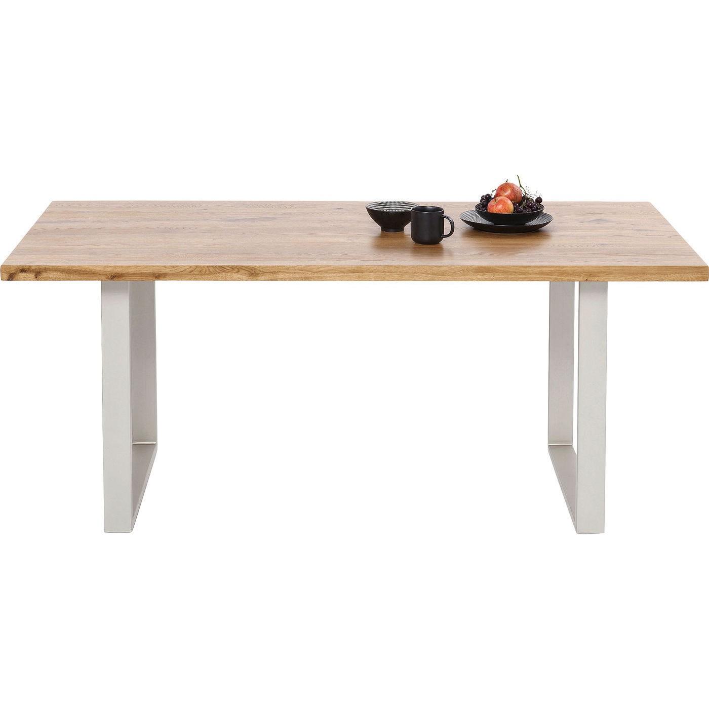 Table Jackie chêne argent 200x100cm Kare Design