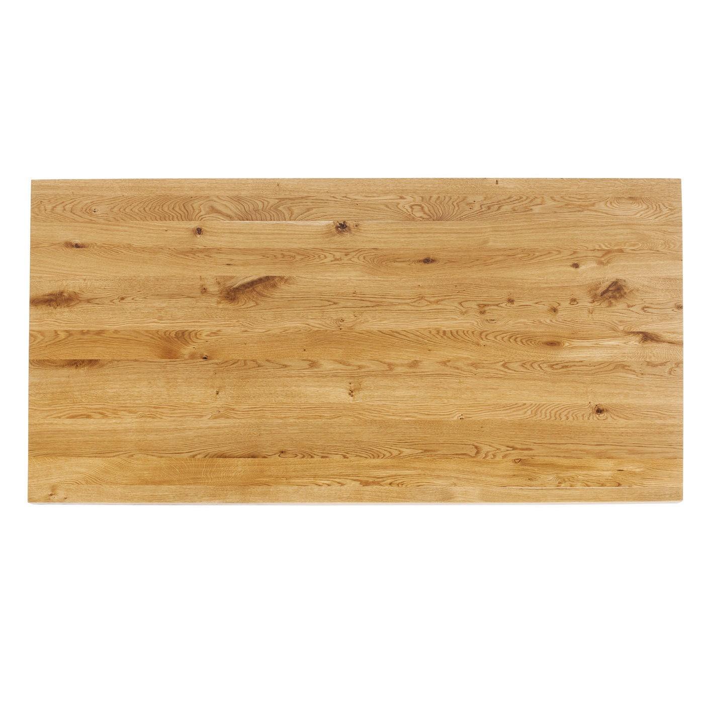 Table Jackie chêne argent 180x90cm Kare Design