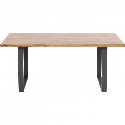 Table Jackie chêne acier 200x100cm Kare Design