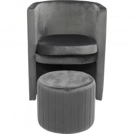 Fauteuils Lofty velours gris Kare Design