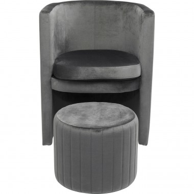 Fauteuils Lofty velours gris Kare Design