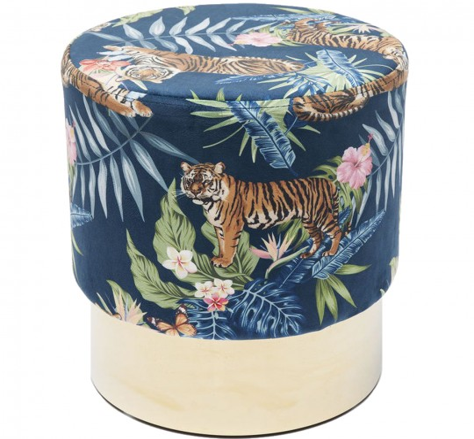 Tabouret Cherry Jungle Tiger laiton Kare Design