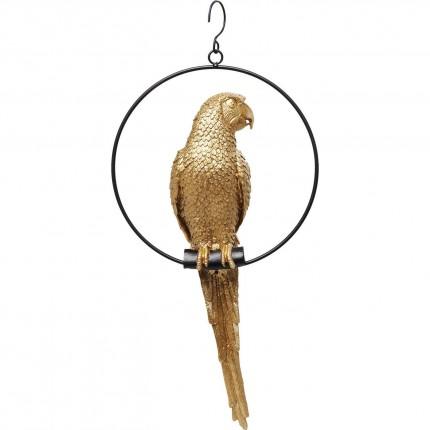 Déco perroquet suspendu doré Kare Design