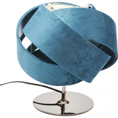Lampe de table Knot bleu pétrole Kare Design