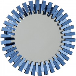 Miroir Sprocket bleu 92cm Kare Design