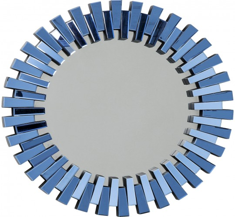 Miroir Sprocket bleu 92cm Kare Design