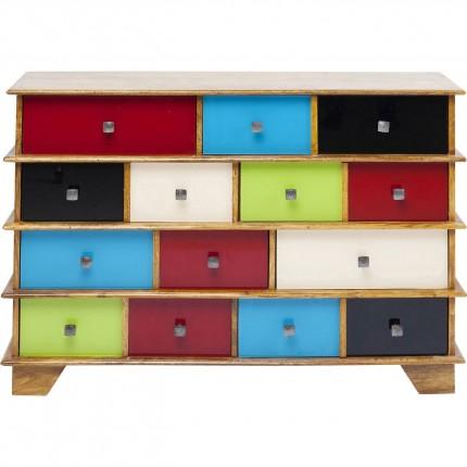 Commode Fuji couleurs 14 tiroirs Kare Design