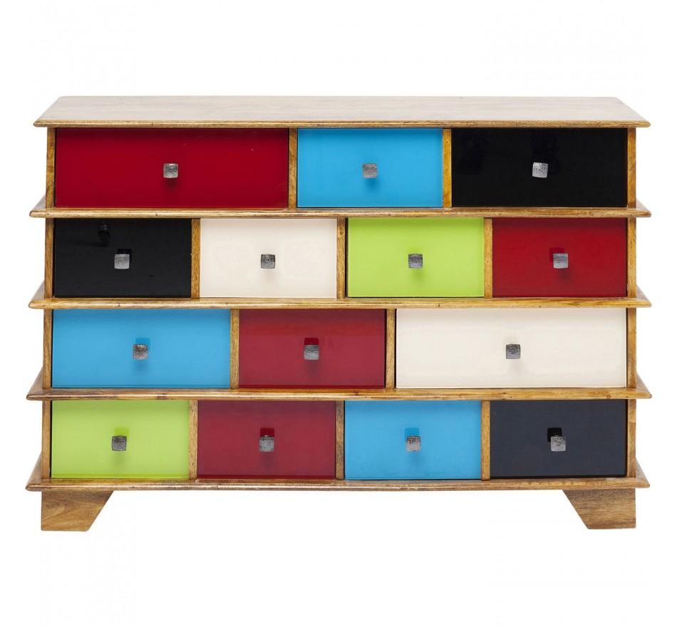 Commode Fuji couleurs 8 tiroirs Kare Design