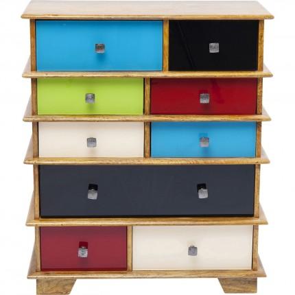 Commode Fuji couleurs 9 tiroirs Kare Design