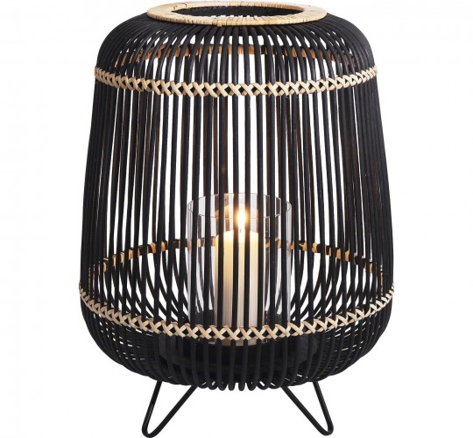 Photophore Bambou noir 42cm Kare Design