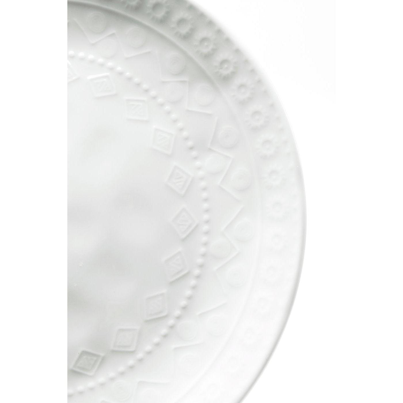Assiettes Karma blanches 22cm set de 4 Kare Design