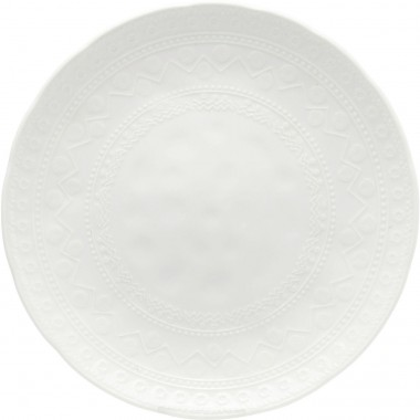 Assiettes Karma blanches 29cm set de 4 Kare Design