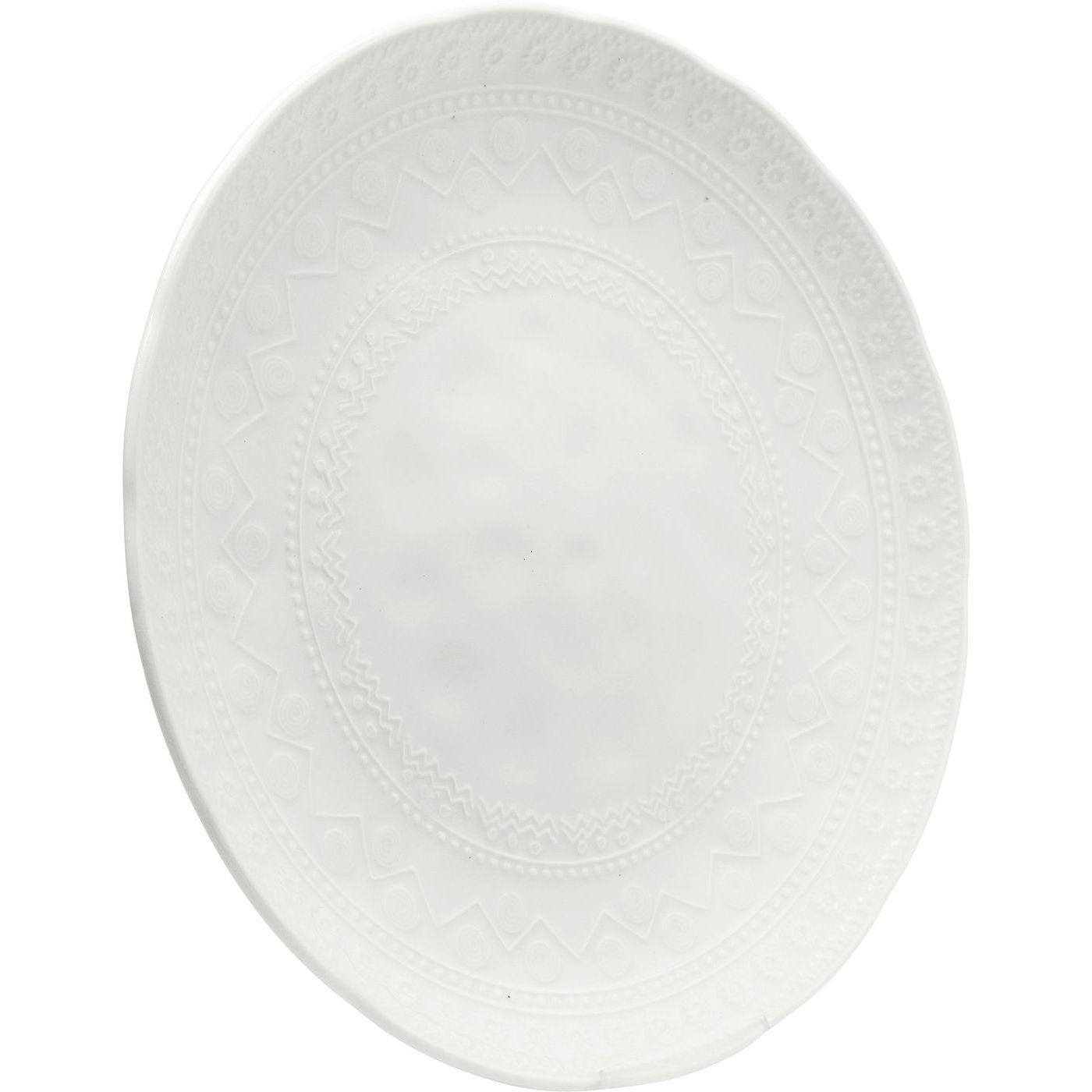 Assiettes Karma blanches 29cm set de 4 Kare Design