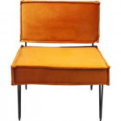 Fauteuil Cubo velours orange Kare Design