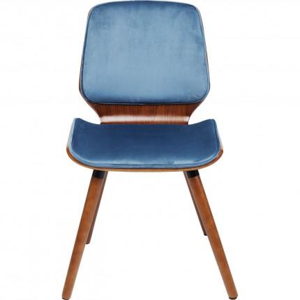 Chaise Gigi velours bleu pétrole Kare Design