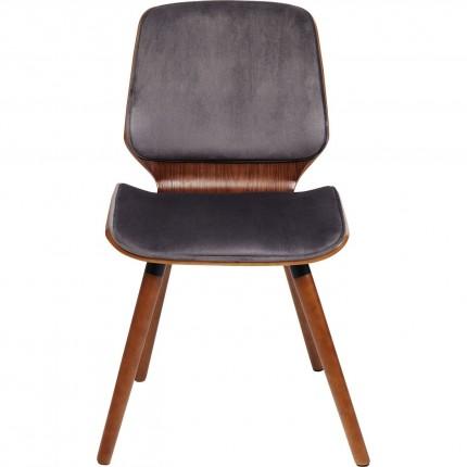 Chaise Gigi velours gris Kare Design