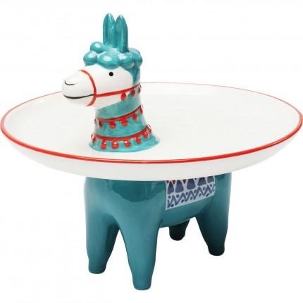 Vide-poche Lama bleu Kare Design