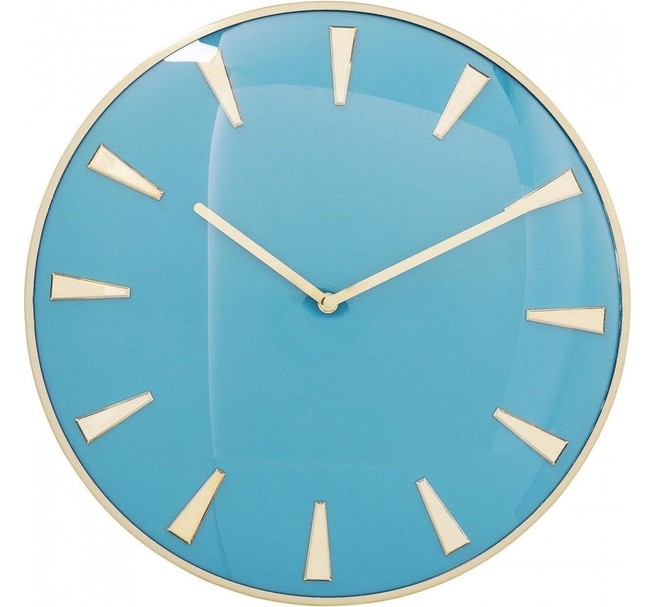 Horloge murale Malibu bleu clair 40cm Kare Design