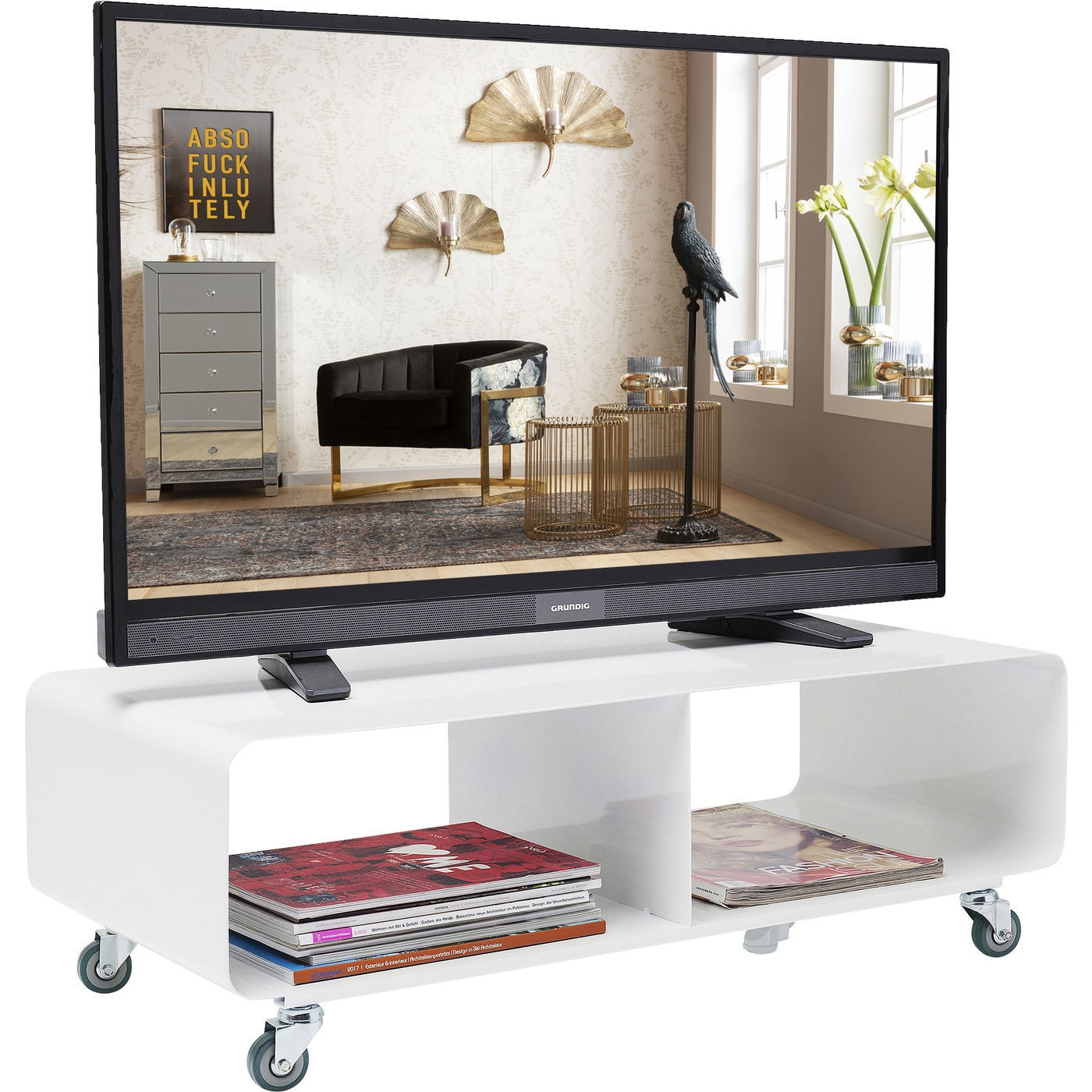 Meuble TV blanc Lounge Kare Design