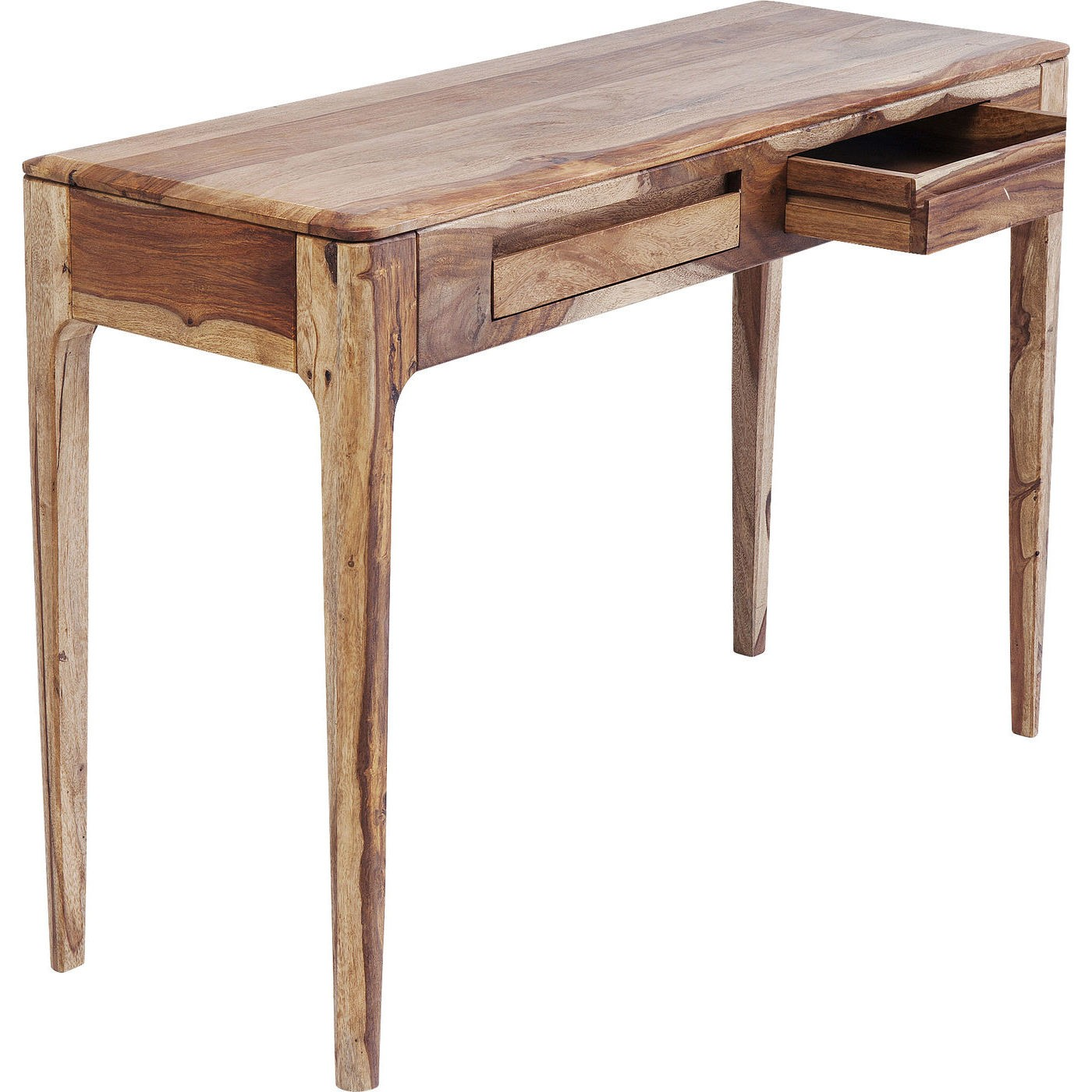 Console/bureau Brooklyn nature 2 tiroirs 110x40cm Kare Design