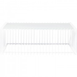 Table basse Wire rectangulaire blanc 115x57cm