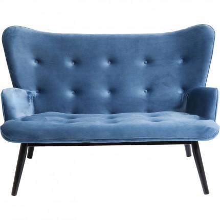 Canapé Vicky velours bleu pétrole Kare Design