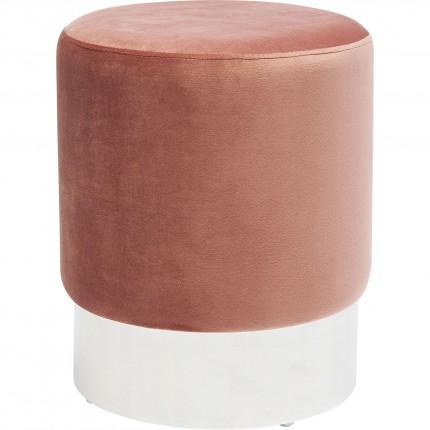 Tabouret Cherry rose et chrome Kare Design