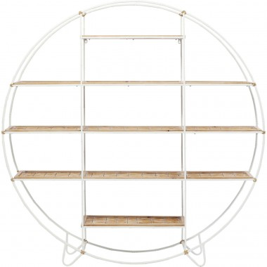 Étagère Jungle Bamboo blanche 150cm Kare Design